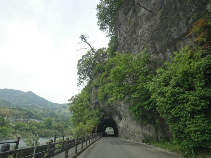 羅漢寺からの青の洞門